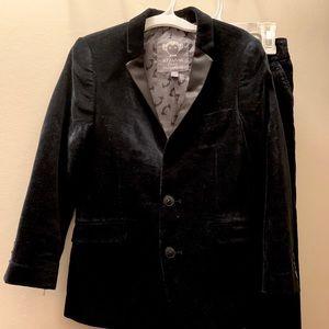 Appaman black velvet tuxedo